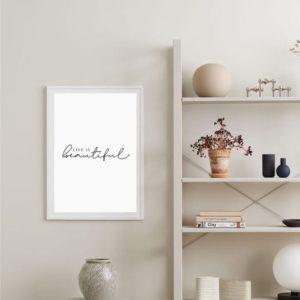 Постер на стену Life is beautiful