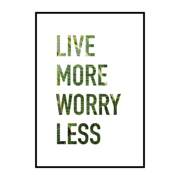 Постер на стену Live more