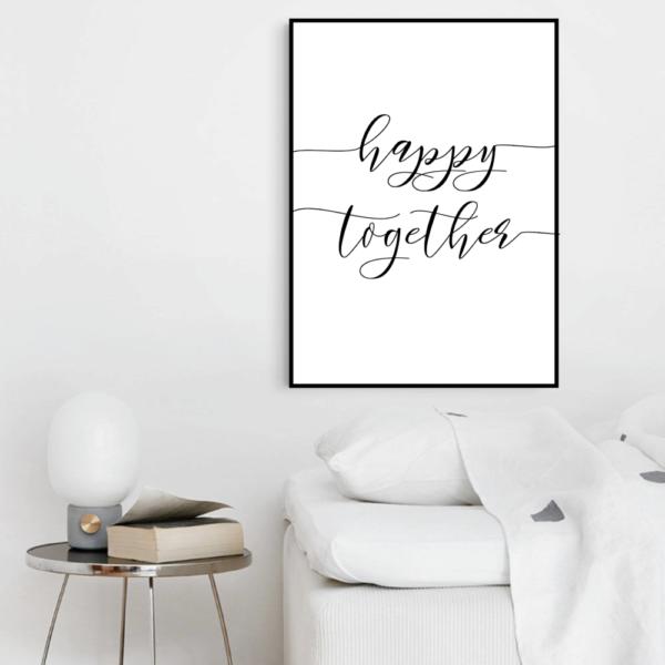 Постер на стену Happy together