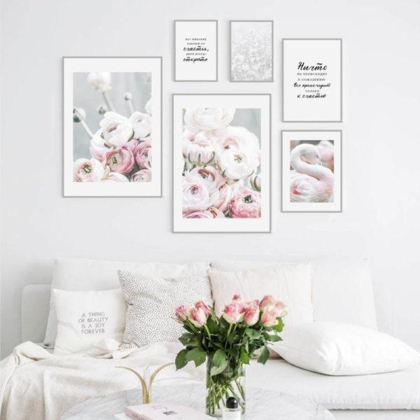 Галерея постеров с фламинго