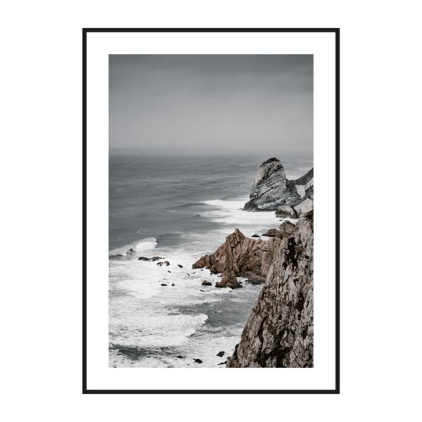 Постер на стену Обрыв серый