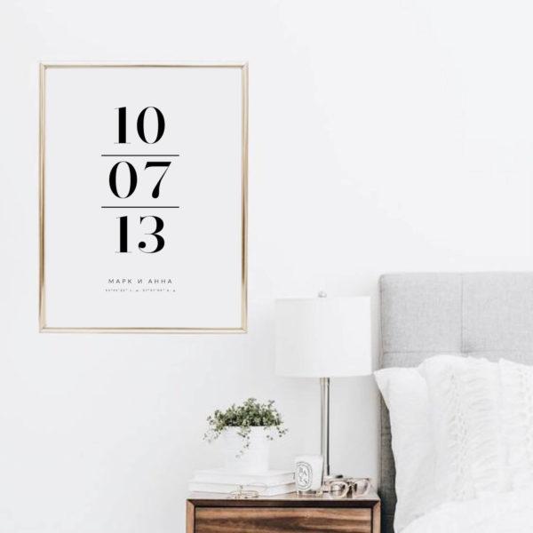 Постер на стену с важной датой
