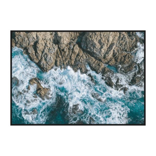 Постер на стену Скалы и волны