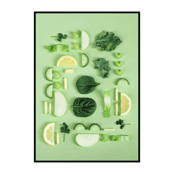 Постер на стену Зеленое ассорти