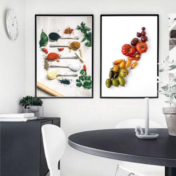Пара постеров Специи с томатами