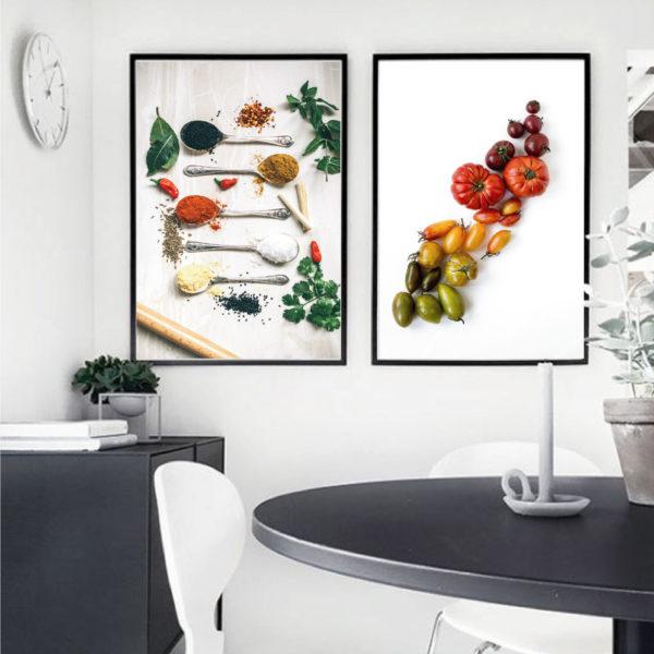 два постера кухонных яркие цвета