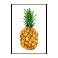 Постер на стену ананас акварель