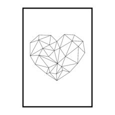 Постер на стену Сердце геометрия