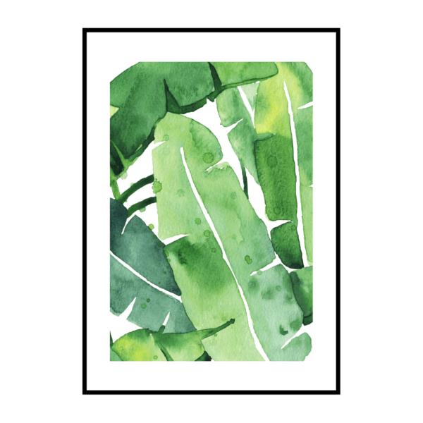 Постер на стену Банановые листья