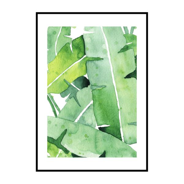 Постер на стену Банановые листья 3
