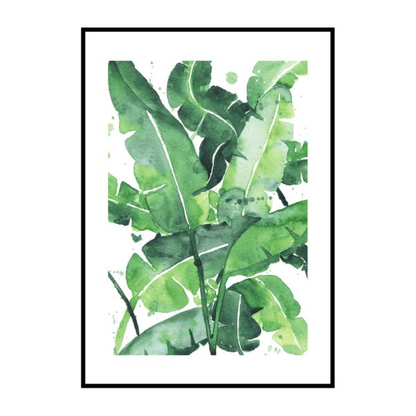 Постер на стену Банановые листья 2