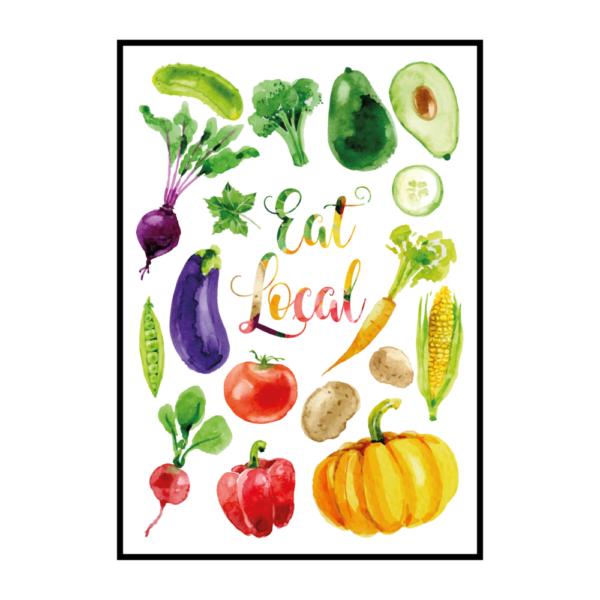 Постер на стену Eat local