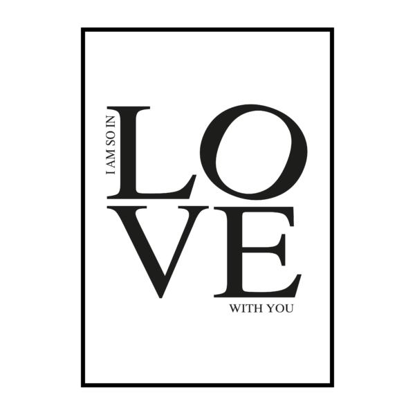 "Постер на стену ""I am so in love"""