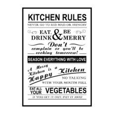 Постер на стену Kitchen rules