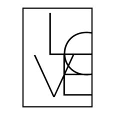 "Постер на стену ""Love"" геометрия скандинавский стиль"