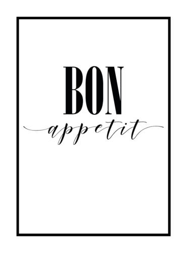 Постер на стену bon appetit