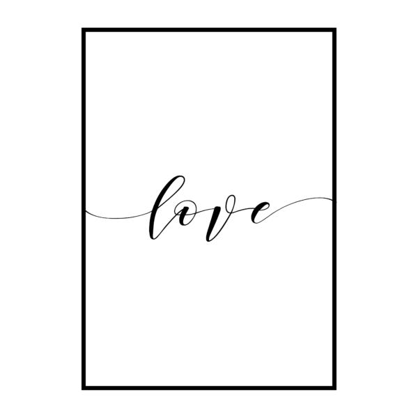 Постер на стену Love