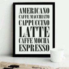 Постер на стену Меню кофе