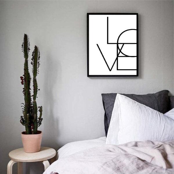 Постер на стену Love геометрия