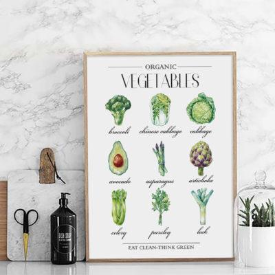 Постер на стену Organic vegetables