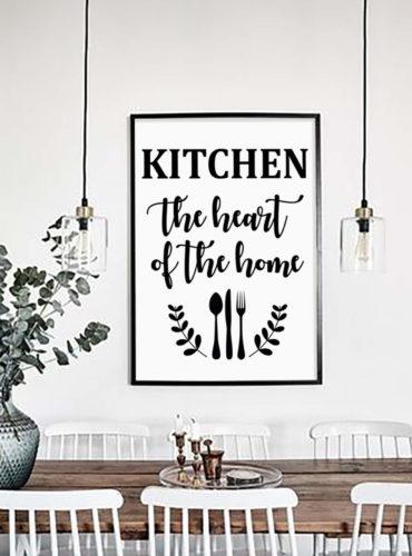 Постер на стену Kitchen the heart of the home