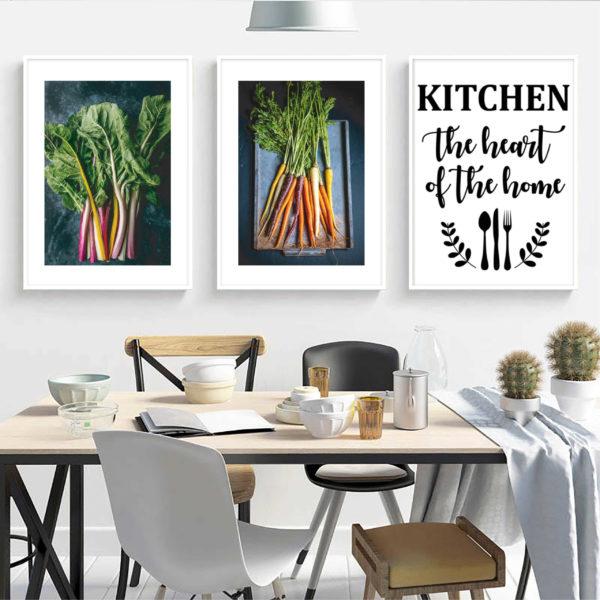 постеры на кухню скандинавский стиль