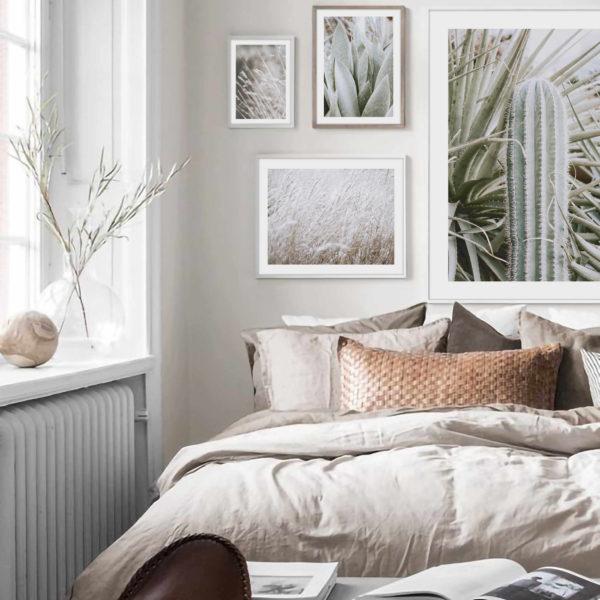 скандинавский стиль постеров в спальню