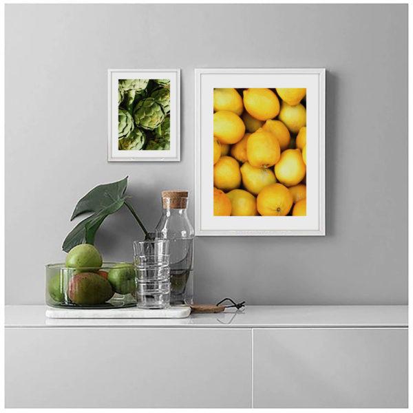 Пара постеров с лимонами и артишоком