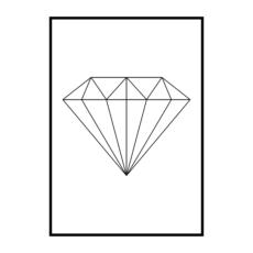 Постер на стену Бриллиант геометрия