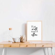 Постер на стену Eat well