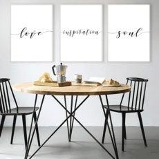 Трио постеров Love inspiration soul