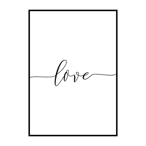 Постер на стен Love тонкая