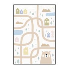 Постер на стену Карта с медведем
