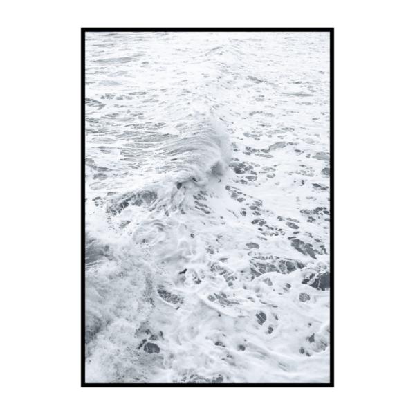 Постер на стену Пенные волны