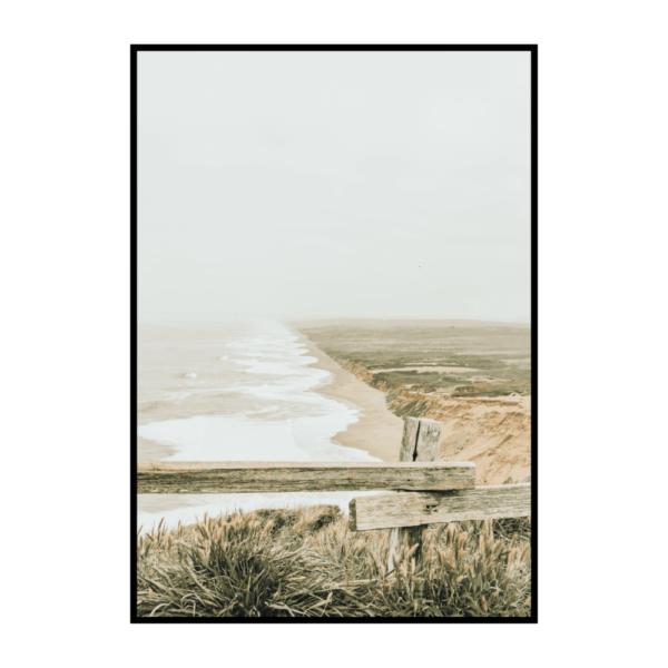 Постер на стену Обрыв у моря
