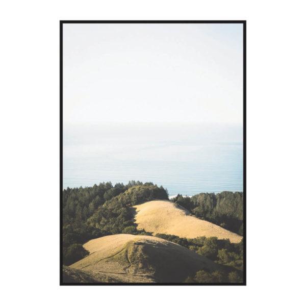 Постер на стену Океан и холмы