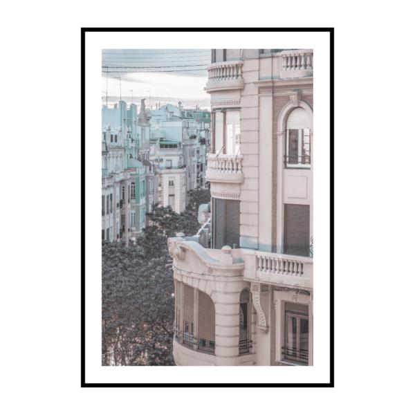 Постер на стену Розовый город