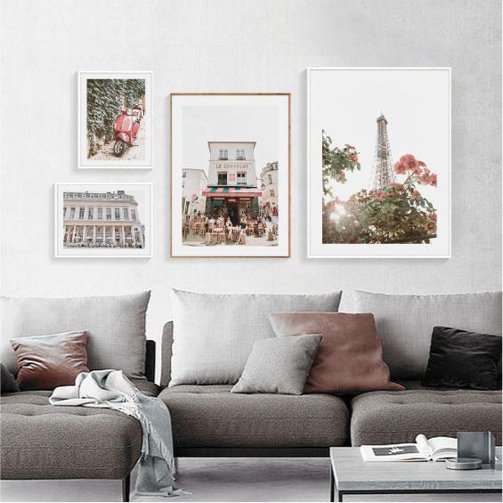 Галерея постеров Париж красный