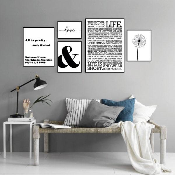 Галерея постеров в скандинавском стиле