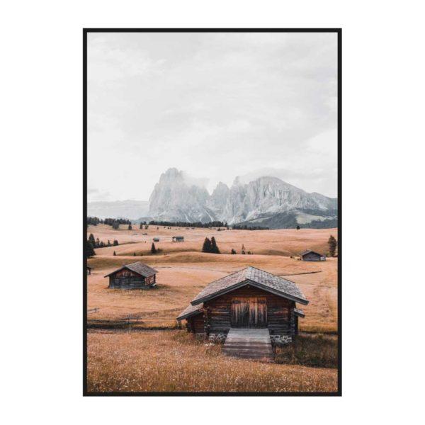 """Постер на стену """"Домики в поле"""""""