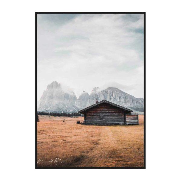 """Постер на стену """"Домики в поле 2"""""""