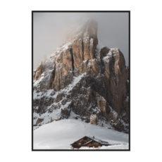 "Постер на стену ""Зимняя скала"""