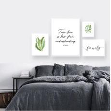 Галерея постеров True love c растениями