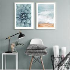 Пара постеров Суккулент с океаном