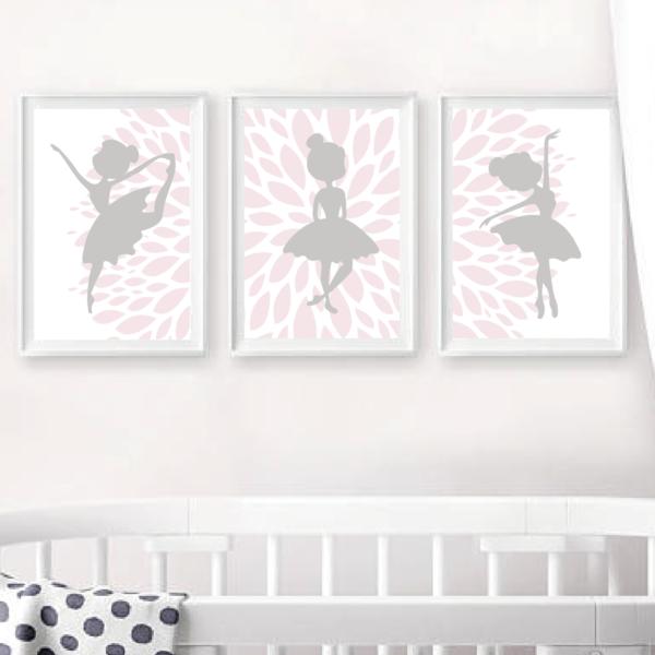 Трио постеров Балерины