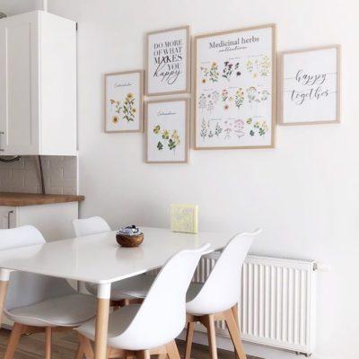 постеры в кухню скандинавский стиль