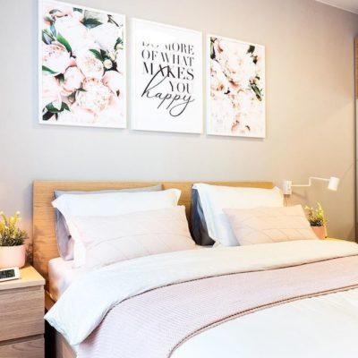 арт постеры в спальню 3 штуки