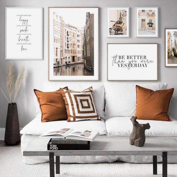 Галерея постеров с городскими пейзажами