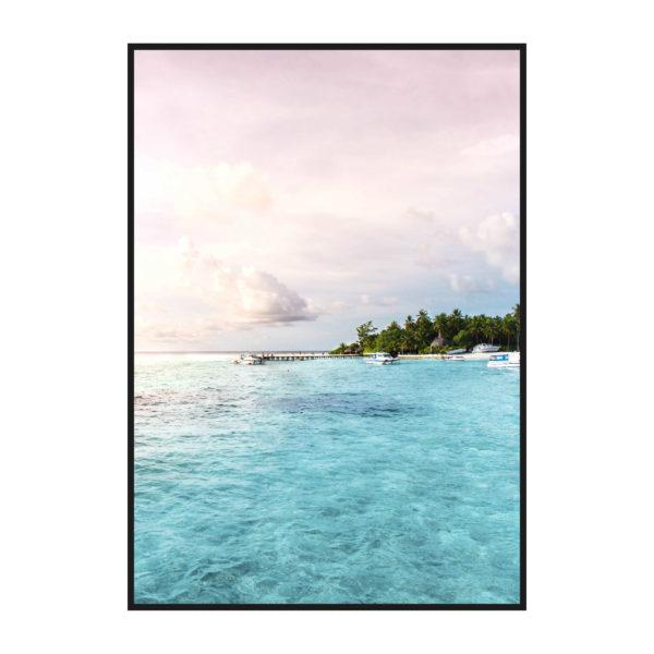 """Постер на стену """"Море розово-голубое 2"""""""