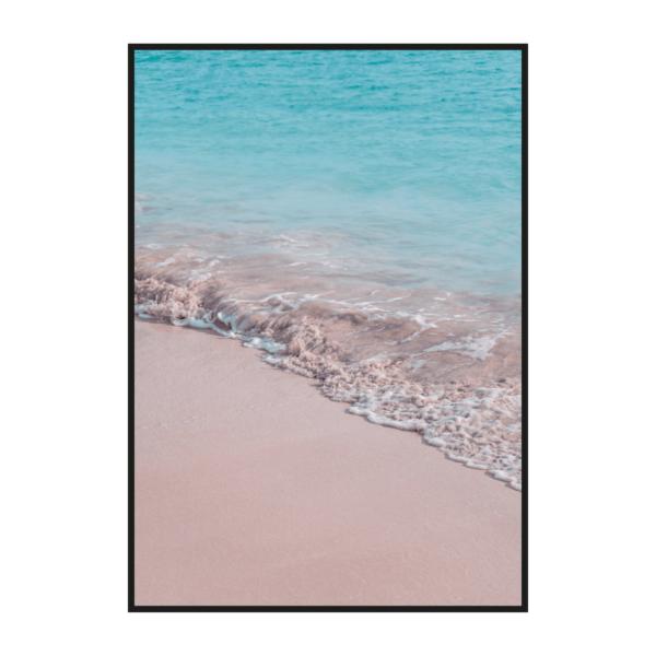 """Постер на стену """"Пляж розово-голубой 2"""""""